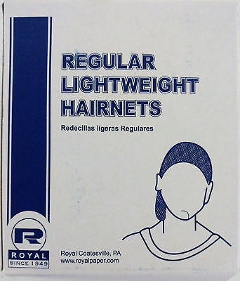 "144/PK Royal 24"" Light Brown Light Weight Hairnet Latex Free RPH144LTLB  (2 Pks)"