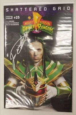 Signed JDF Exclusive! Mighty Morphin Power Rangers #25 Shattered Grid MMPR