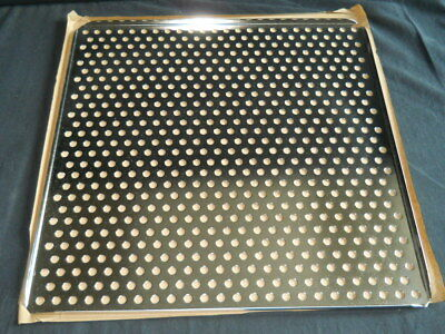 """Square 18-1/2"""" Perforated Stainless Steel Shelf for Incubator / Freezer"""