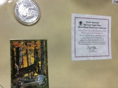 NORTH AMERICAN BIG GAME SUPER SLAM WHITETAIL DEER Three Piece Set, Proof Coin