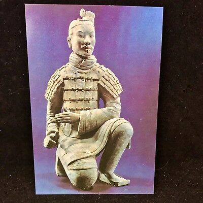 Vintage Post Card A Terra-cotta Shooter From Kneeling Position China