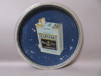 Vassoio Latta Pubblicitario Sigarette Capstan Advertising Cigarettes Tray