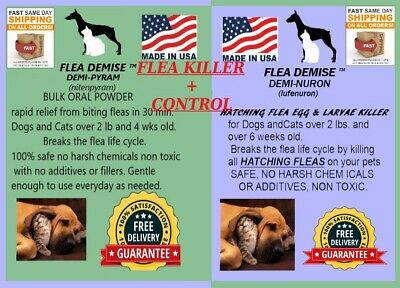 Instant Flea Killer PLUS Monthly control bulk combo pack up to 500 doses Dog Cat