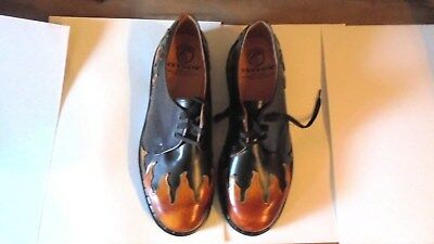 Tredair Vintage Leather Flame Oxfords Men's 11 Made In England Nib