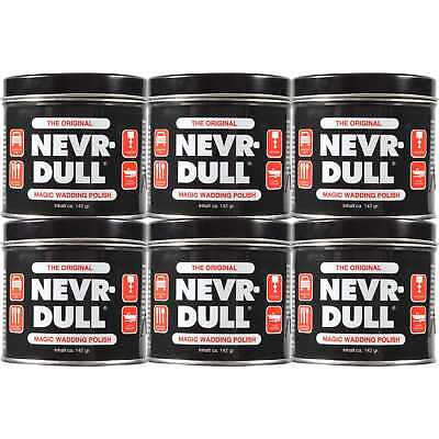 6 x NEVR-DULL Metall-Polierwatte C2116A (142 g)