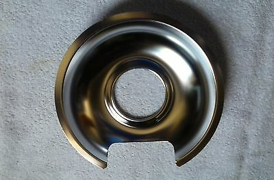 2 - WB32X10012 GE 6 Inch Chrome Burner Pan Genuine OEM