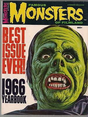 FAMOUS MONSTERS OF FILMLAND YEARBOOK 1966 PETER LORRE JOHN CARRADINE+ 100pg VF+