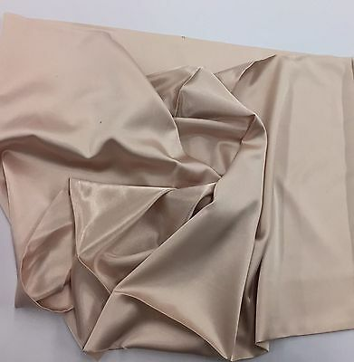 Champagne 60inch 2 Way Stretch Charmeuse Satin-super Soft Silky Satin-by Yard.