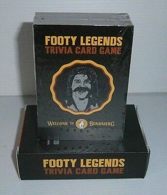Bundaberg Bundy Rum brand new trivia footy cards for home bar, pub or collector