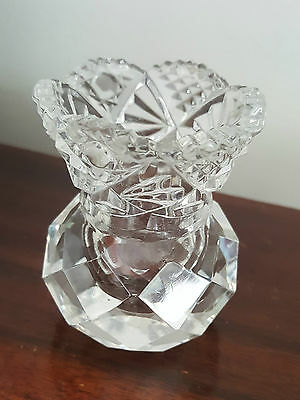 Faceted / Cut Glass Thistle Bud Base