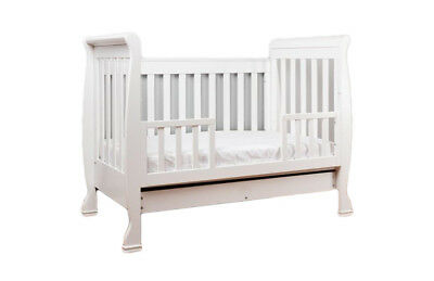 Brand New Baby Star Ellen Sleigh 3 In 1 Cot Infant/toddler Or Sofa Bed Rrp $799
