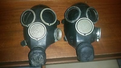 Russian vintage gas mask lot of two
