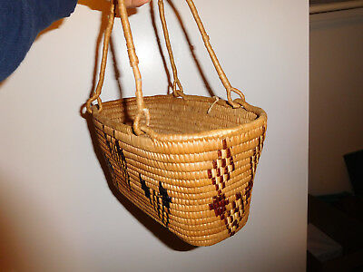Antique NW Coast Basket American Indian Native Piece