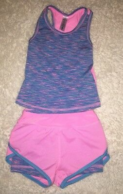 90 Degree by Reflex Baby Girl Pink 2 Piece shorts and tank sett, SZ 2T Toddler
