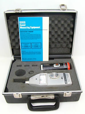 MSA Mine Safety Appliances OSHA Decibel Sound Level Meter S2A