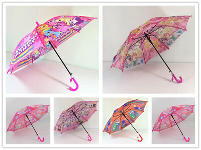 Umbrella Kids Girls Water Proof Little Pony Peppa Pig Princess Pink Cue Au Stock