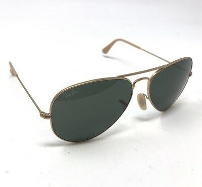 2cd686a77b5 AUTHENTIC RAY-BAN AVIATOR RB3025 112/85 58 Gold Brown Sunglasses C1