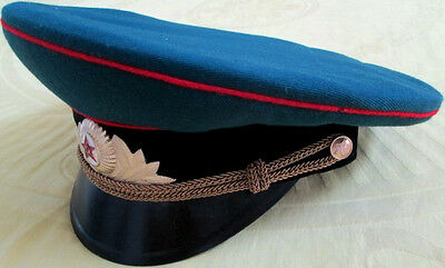 1980s Original Tank/Armored Vehicle/Artillery/Missile Defense Officer Hat/RUSSIA