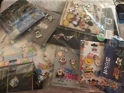 Disney Trading Pins - Lot Of 5 Assorted Pin Packs -  No Doubles