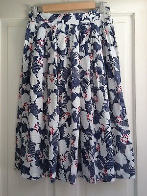 VTG DOMINEX 50's Styled Printed Pure Cotton Full Skirt - Size 8