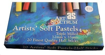 20 x Half Artists' Soft  PASTELS  Art Spectrum  Colours Drawing