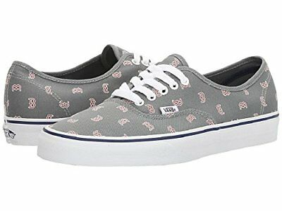 00854b01fa VANS AUTHENTIC MLB BOSTON RED SOX GRAY SKATE CASUAL MEN S SIZE 8.0 ...