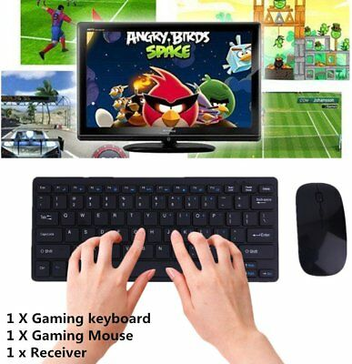 Wireless 2.4GH Mini Keyboard and Mouse Combo Set for Laptop Macbook LOT HRE