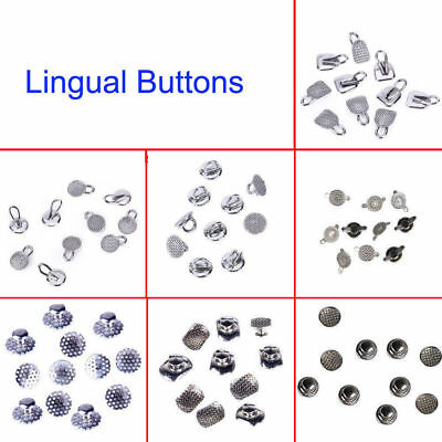 10x Dental Orthodontic Lingual Button Bondable Round Base Direct Eyelets 10 Kind