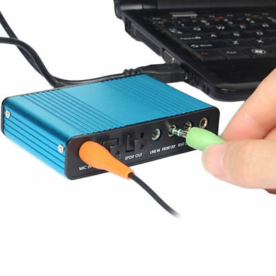 USB 6 Channel 5.1 Audio External Sound Card Adapter For PC Laptop Skype B