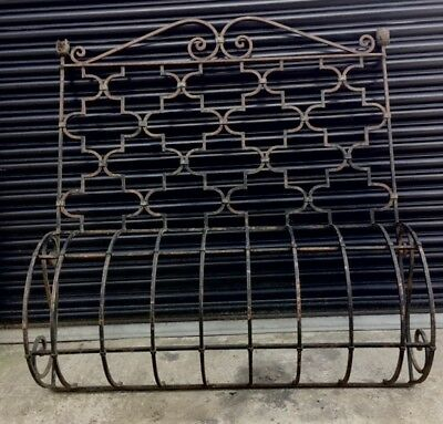 "Continental Wrought Iron Window Grill Planter - Pair Available 54""W x 59""H x12""D"