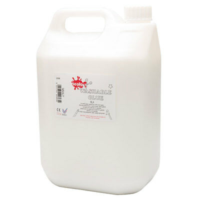 Scola Washable PVA Glue - 5 Litre - Perfect For Slime Making - School Craft
