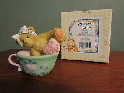 "Cherished Teddies -  MARGARET ""A Cup Full of Love"" 1994 Figurine 135593"
