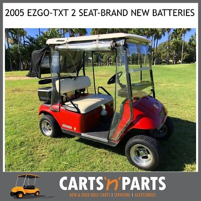 Golf Cart Buggy EZGO TXT Freedom Red 2 Seat