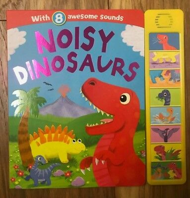 Noisy Dinosaur Sound Book With 8 Awesome Sounds Ages 6 months+ New Birthday Gift