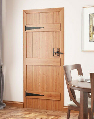 Solid Oak 3 Ledged V-Groove Cottage Door - Select Grade & Size