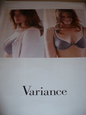 AFFICHE POSTER   VARIANCE    2008                180x120   TBE  NON  PLIEE