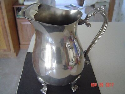Vintage Leonard Silverplate Water Pitcher/Footed