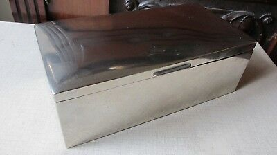Silver Plated  SEWING JEWELLERY CIGAR BOX  ,WOODEN  INTERIOR,By ROWENTA