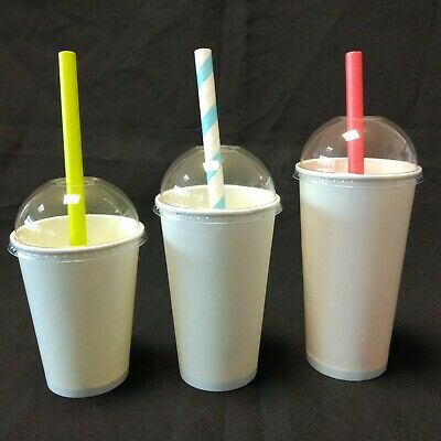 8oz 12oz 16oz Single Wall White Disposable Coffee Hot Drink Paper Cups Lids