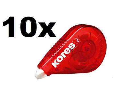 10 x Kores Korrekturroller Roll-On 4,2mm x 15m Schattenfrei Kopierbar