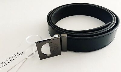 Versace Collection NWT Men Belt 48 or Cut to Size Black Leather Medusa COA  NEW b4b3a4beb88