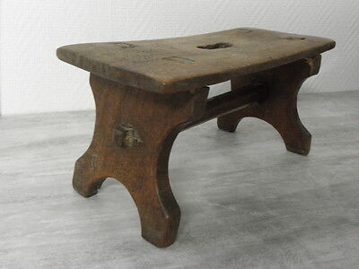 primitive Stool wood Stool antique has to milk cow campaign country side Farmer