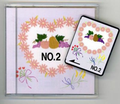 Brother Embroidery Card No 2 Fruits & Flowers for embroidery machines SA299
