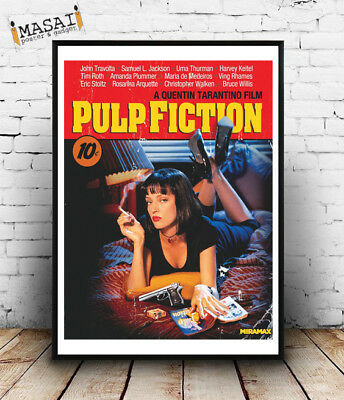 Pulp Fiction Tarantino -Poster e locandine,parete,manifesto,murali,film,cinema