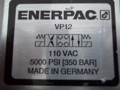 NEW IN BOX ENERPAC VP12  4/3 DIRECTIONAL VALVE 5000 PSI 350 bar