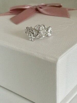 64ebc05a3 Shimmering Bouquet Ring Pandora Stamped S925 ALE Comes With Pouch Size 54