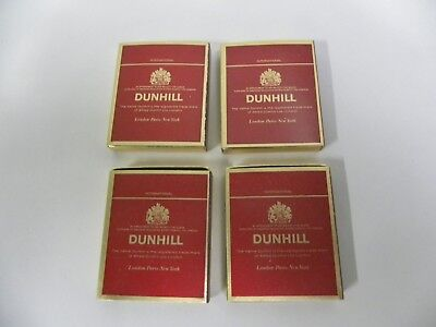 "Lot Of ""4"" Vintage Dunhill International Matchbox Match Boxes (A2)"