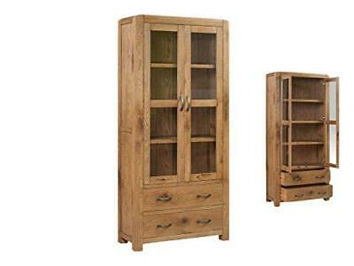 Caprice Solid Oak Large Display Unit - 2 Door 2 Drawer Cabinet and Display Unit