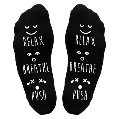 PALE PINK Keep Calm /& Push Sole Design Socks Mother Mum To Be UK Size 4-8 X6N799