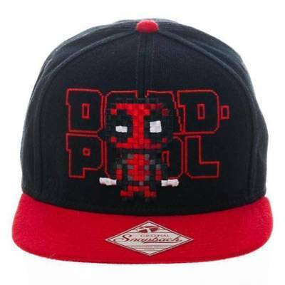 best sneakers 349a1 a703f Deadpool Hat Cap Stitched Logo Lettering Marvel Snapback Superhero.